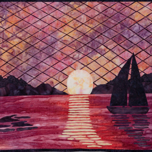Sailing into the Sunset by Janet Mireault